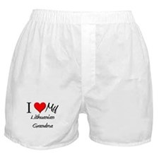 I Heart My Lithuanian Grandma Boxer Shorts