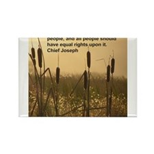 Chief Joseph Earth Quote Rectangle Magnet