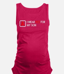 Red Ribbon: Red for my Son Maternity Tank Top