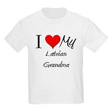 I Heart My Latvian Grandma T-Shirt