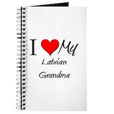 I Heart My Latvian Grandma Journal