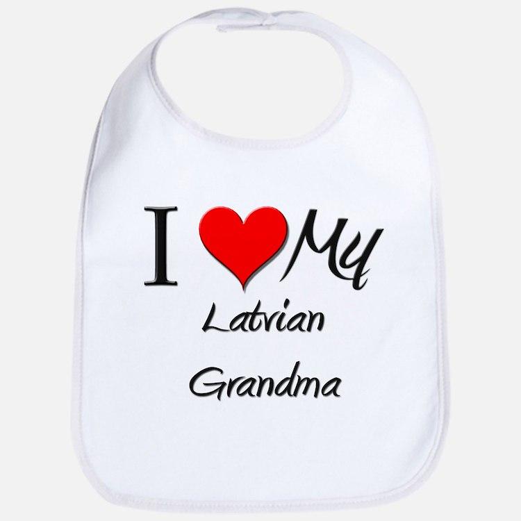 I Heart My Latvian Grandma Bib