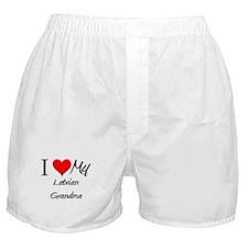 I Heart My Latvian Grandma Boxer Shorts