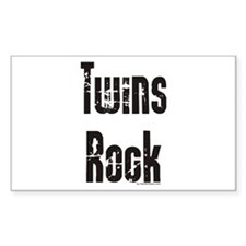 Twins Rock Rectangle Decal