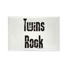 Twins Rock Rectangle Magnet