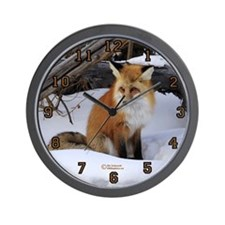 """Sly Fox"" Wall Clock"