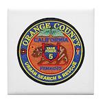O.C. Urban Search & Rescue Tile Coaster