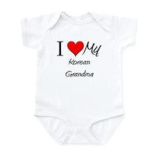 I Heart My Korean Grandma Infant Bodysuit