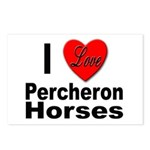 I Love Percheron Horses Postcards (Package of 8)