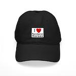 I Love Percheron Horses Black Cap