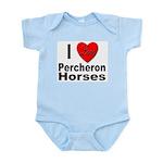 I Love Percheron Horses Infant Creeper
