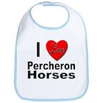 I Love Percheron Horses Bib
