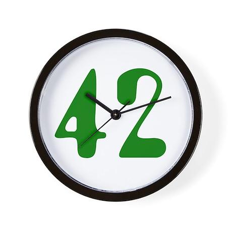 Hitchhiker Answer - 42 - Wall Clock