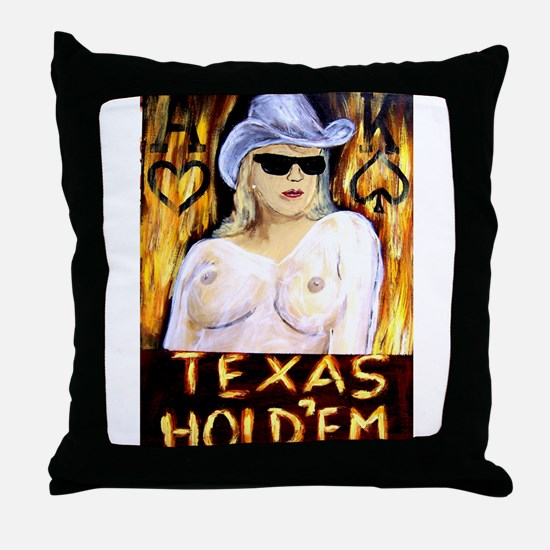 Unique Texas holdem Throw Pillow