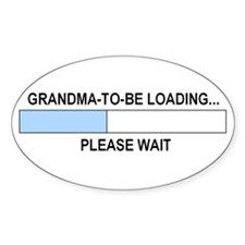 GRANDMA-TO-BE Oval Sticker