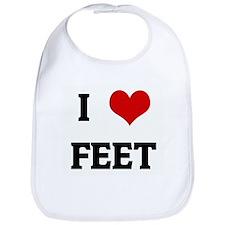 I Love FEET Bib