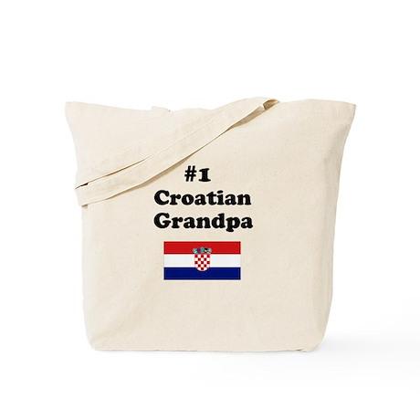 #1 Croatian Grandpa Tote Bag