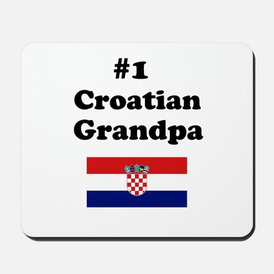 #1 Croatian Grandpa Mousepad