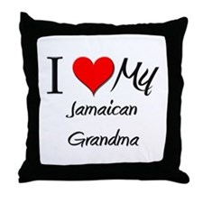 I Heart My Jamaican Grandma Throw Pillow