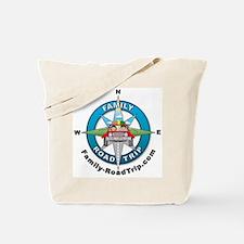 Family Road Trip Compass Rose Logo Tote Bag