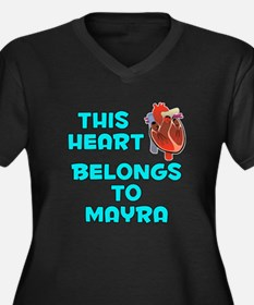 This Heart: Mayra (B) Women's Plus Size V-Neck Dar