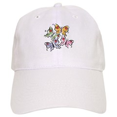 Butterfly Valentine Baseball Cap