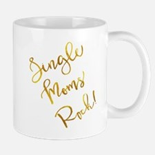 Single Moms Rock Gold Faux Foil Metallic Insp Mugs