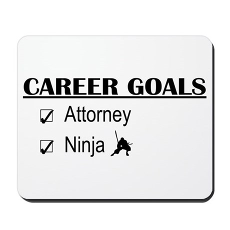 Attorney Career Goals Mousepad