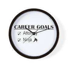 Attorney Career Goals Wall Clock