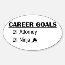 Attorney Career Goals Oval Decal
