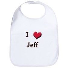 I Love (Heart) Jeff Bib