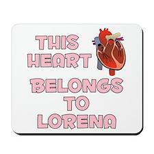 This Heart: Lorena (C) Mousepad