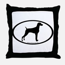 Weimaraner Oval Throw Pillow