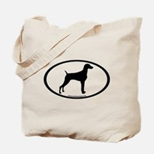 Weimaraner Oval Tote Bag