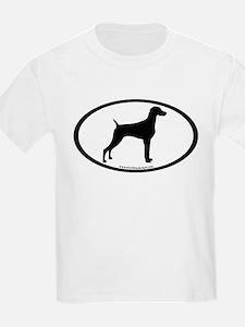 Weimaraner Oval T-Shirt