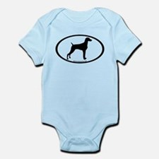 Weimaraner Oval Infant Bodysuit