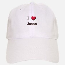 I Love (Heart) Jason Baseball Baseball Cap