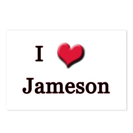 I Love (Heart) Jameson Postcards (Package of 8)
