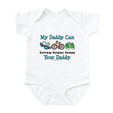 My Daddy Triathlon Baby Onesie
