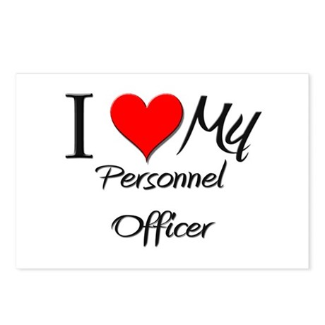I Heart My Personnel Officer Postcards (Package of