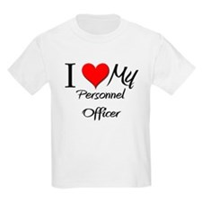 I Heart My Personnel Officer T-Shirt