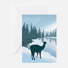 Scenic Winter Alpaca Greeting Cards (Pk of 10)