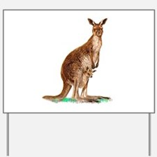 Western Gray Kangaroo Yard Sign