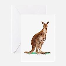Western Gray Kangaroo Greeting Card