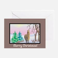 Merry Christmas Scenic Alpaca Greeting Cards (Pk o