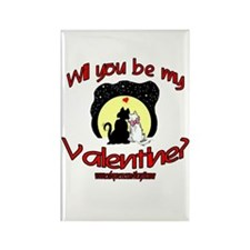 VALENTINE CATS Rectangle Magnet
