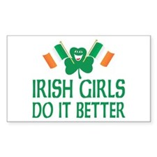 Irish Girls Do It Better Rectangle Decal