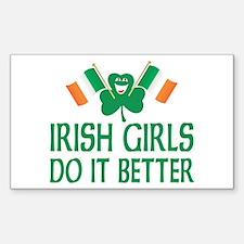 Irish Girls Do It Better Rectangle Decal