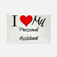 I Heart My Personal Assistant Rectangle Magnet