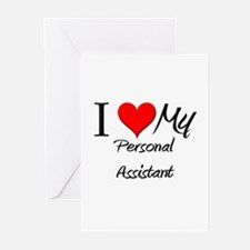 I Heart My Personal Assistant Greeting Cards (Pk o